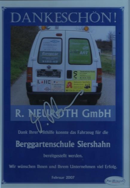 Berggartenschule Auto 2007